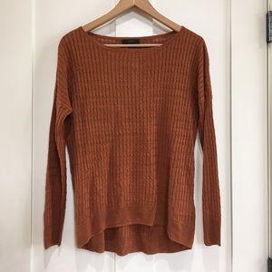 J. Crew Crewneck Linen Brown Sweater